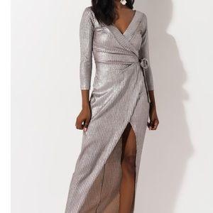 NWT Akira Metallic Dress